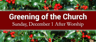 Greening of the Church Web Banner