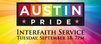 Austin PRIDE Interfaith Service Web Banner