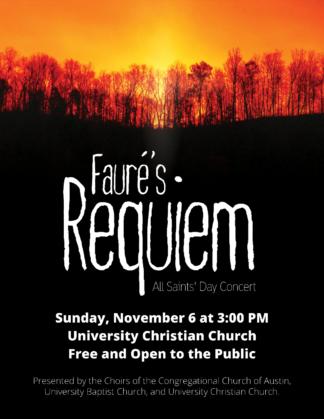 Requiem Concert Flyer