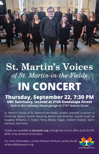 St. Martin's Voices Concert Poster